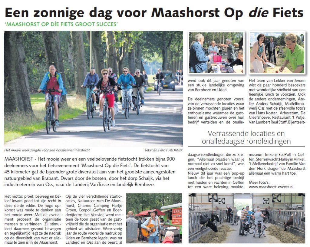 Maashorst Op die fiets en DMBK 29-08-2018