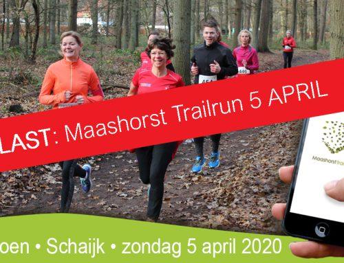 Maashorst Trailrun afgelast